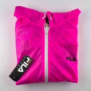 Fila Women's Large Pink and Floral Windbreaker